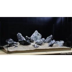 Композиция для аквариума от 160 литров. Черный кварц