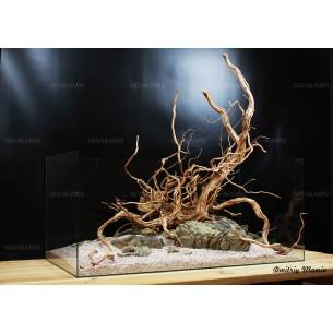 Композиция для аквариума из Ротанга и Карпатского камня